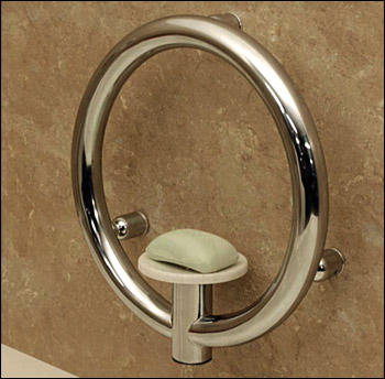 Invisia Collection Soap Dish Grab Bar Combination