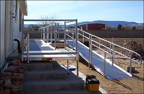 Aluminum Ramp for Wheelchairs