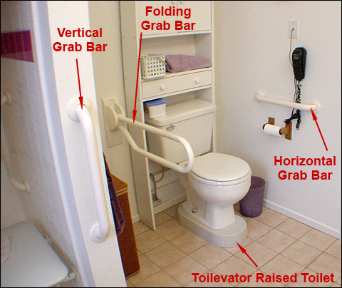 grab bar user has limited mobility in the left arm a grab bar within
