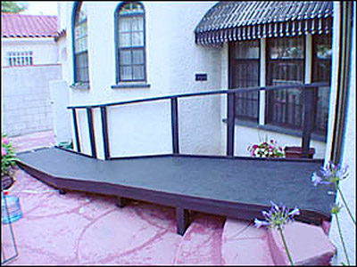 wooden wheelchair ramps