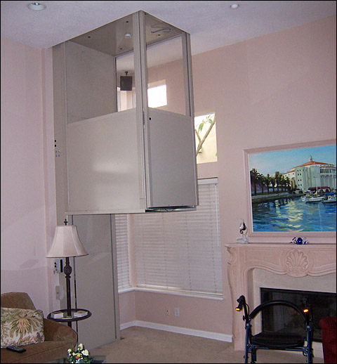 A telecab elevator minimizes construction time and cost for Elevator in house cost