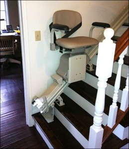 Stair Lift With Folding Rail