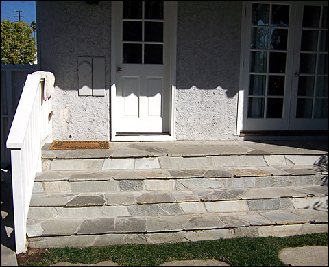 Outside Step Railing